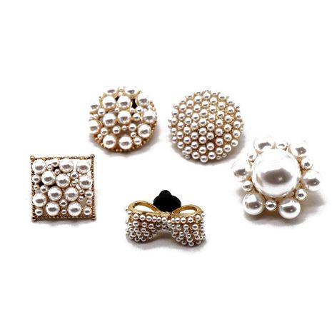 Broche de mariposa de flor de perla de imitación de moda NHOM155146's discount tags