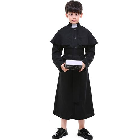 Halloween children cosplay priest costume NHFE155205's discount tags