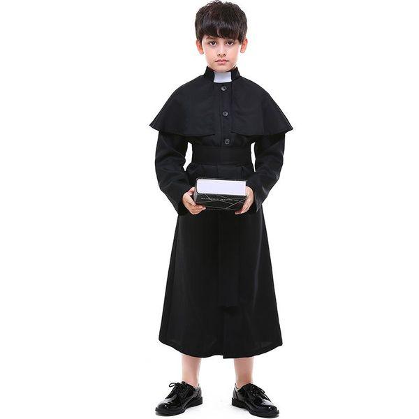 Halloween children cosplay priest costume NHFE155205