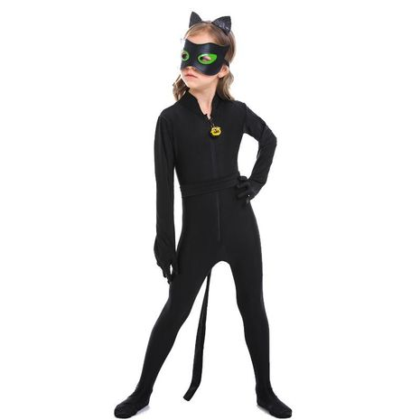 Halloween cosplay black cat animal play children's jumpsuit NHFE155210's discount tags