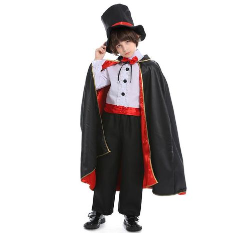 Halloween cosplay children's magician costume NHFE155217's discount tags
