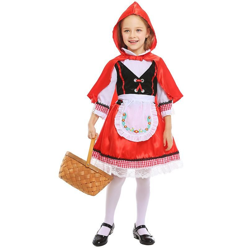 Halloween Carnival Fairy Little Red Riding Hood Costume NHFE155220