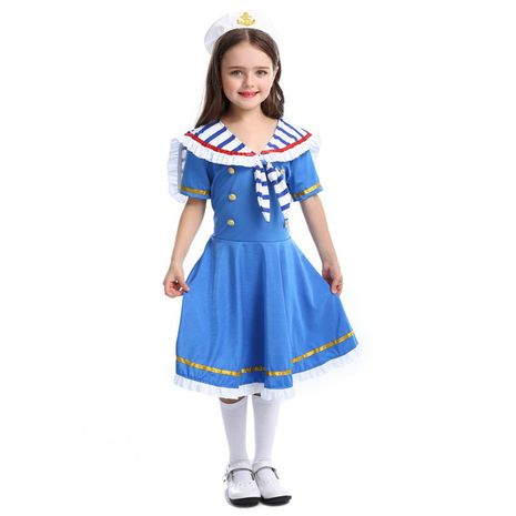 Halloween Children's Royal Small Navy Sailor Suit NHFE155221's discount tags