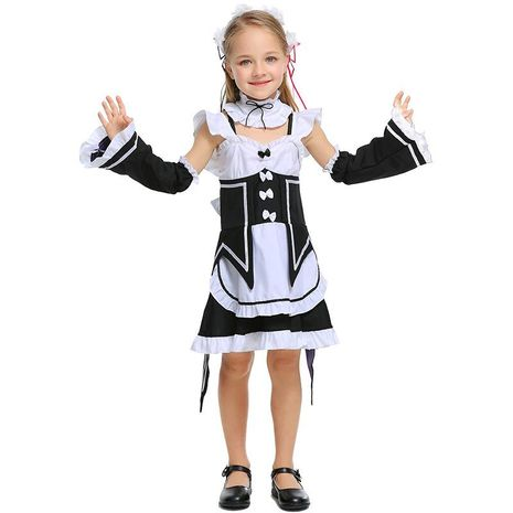 Cute cafe maid uniform Halloween cosplay parent-child costume NHFE155229's discount tags