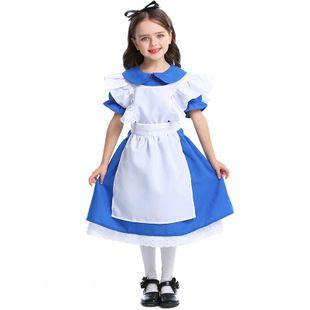 New dark blue girls costumes Halloween princess dress performance clothing NHFE155232's discount tags