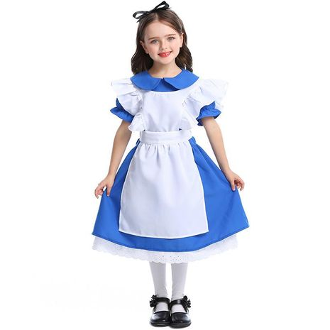 New dark blue girls costumes Halloween princess dress performance clothing NHFE155232's discount tags