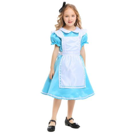 New girls costumes, Halloween princess dress, maid wear NHFE155233's discount tags
