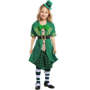 Halloween St. Patrick's Day Alice Series Children's Elf Dress NHFE155234's discount tags