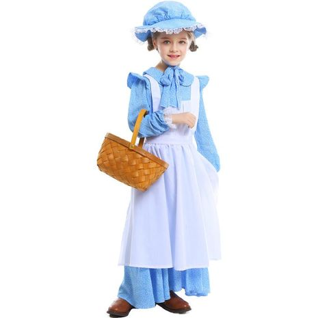 Halloween costume girls farm pastoral stage drama costumes NHFE155235's discount tags