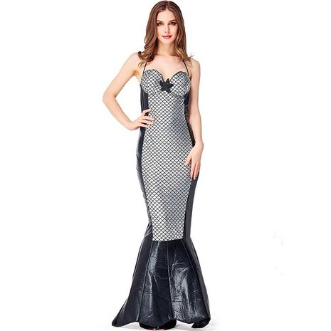 Halloween party party costumes deep sea two-color mermaid tube top dress NHFE155250's discount tags