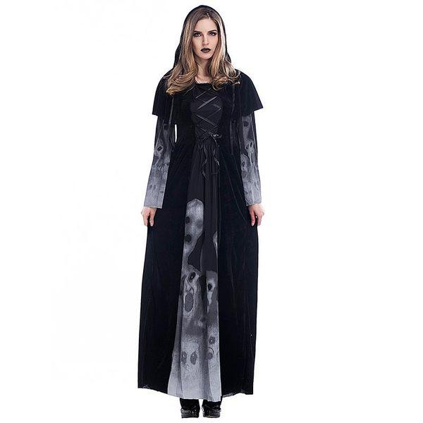 Halloween Adult Skull Vampire Cosplay Costume NHFE155252
