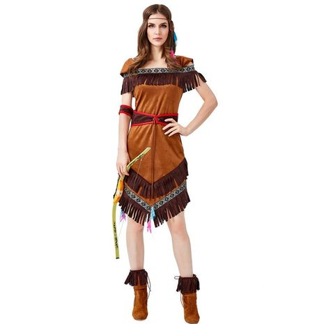 Halloween cosplay Indian Native American archer dance dress NHFE155256's discount tags