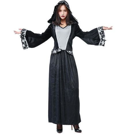 Halloween new skull lace party party COS witch long skirt NHFE155258's discount tags