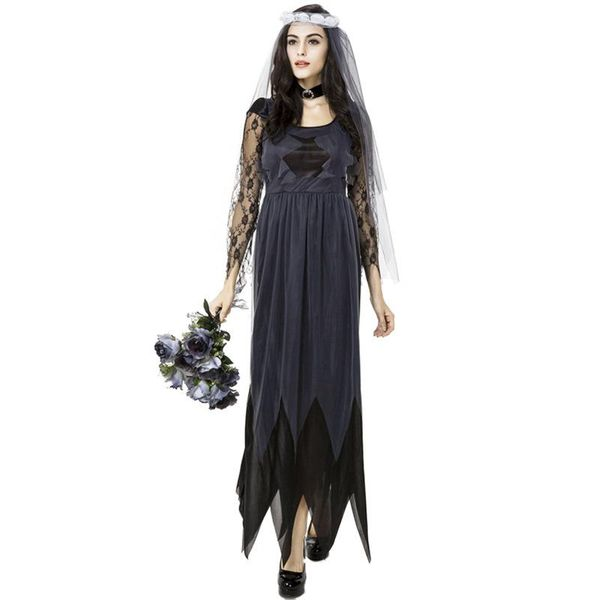 Lace side tulle ghost bride female models Halloween cosplay clothes NHFE155265