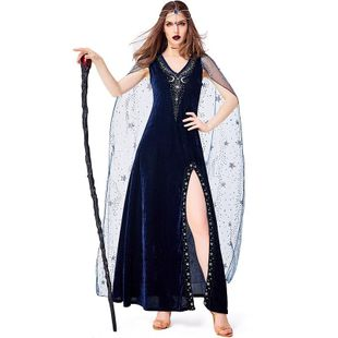 Halloween Role Playing Witch Stage Magic Show Costume NHFE155268's discount tags