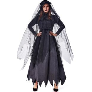 Halloween party carnival black zombie ghost bride costume NHFE155266's discount tags