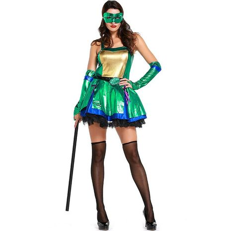 Halloween Green Teenage Mutant Ninja Turtle Cosplay Costume NHFE155272's discount tags