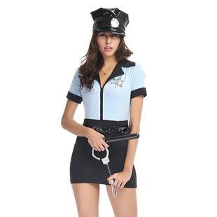 Cosplay Costume Halloween Siamese Policewear NHFE155279's discount tags