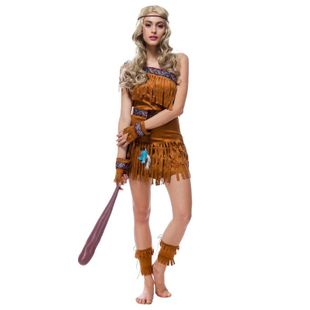 Halloween Indian Native COS Costume NHFE155300's discount tags