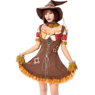 Halloween Carnival Straw Doll Puppet Cosplay Stage Dress NHFE155304's discount tags