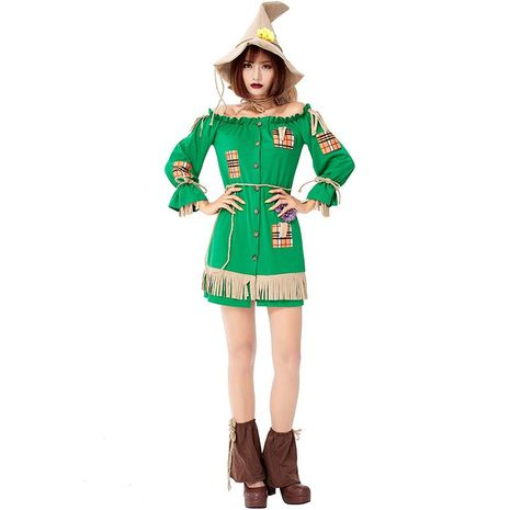 Wizard of Oz Halloween Role Playing Straw Doll Costume NHFE155306's discount tags