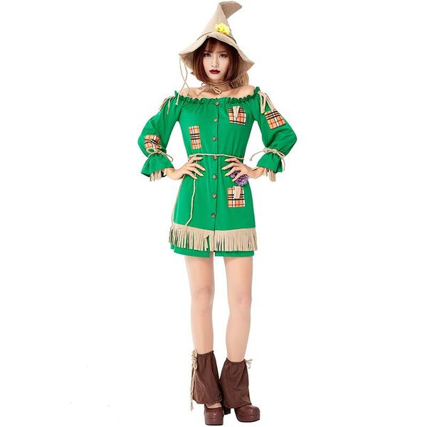Wizard of Oz Halloween Role Playing Straw Doll Costume NHFE155306