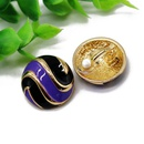Korean version of the popular color matching round drop 925 silver needle stud earrings NHOM155008