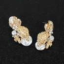 Womens Floral Plating Alloy Earrings NHCT155118