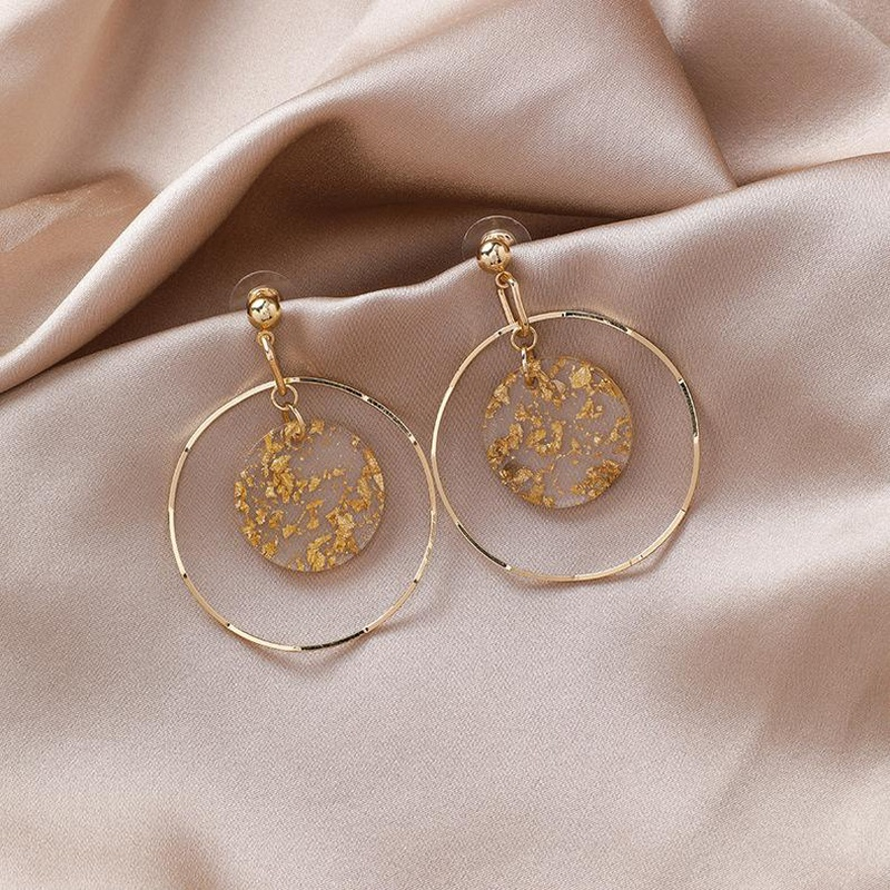 Fashion geometric sequin alloy earrings NHMS155330