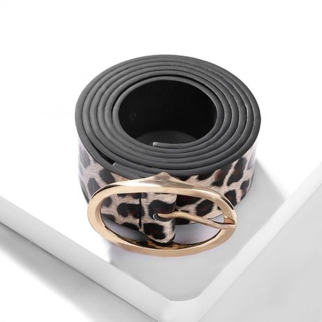 Fashion leopard alloy PU belt NHJQ155373's discount tags