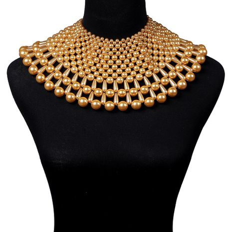 Fashion pearl large sweater necklace NHJQ155375's discount tags