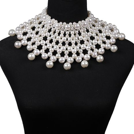 Fashion Beaded Pearl Sweater Necklace NHJQ155374's discount tags