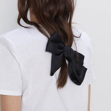 Fashion solid color cloth bow hair band hair clip NHJE155394's discount tags