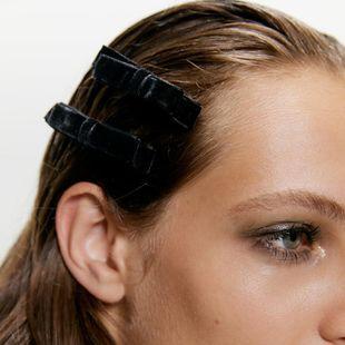 Gold velvet multicolor bow hair clip NHMD155399's discount tags