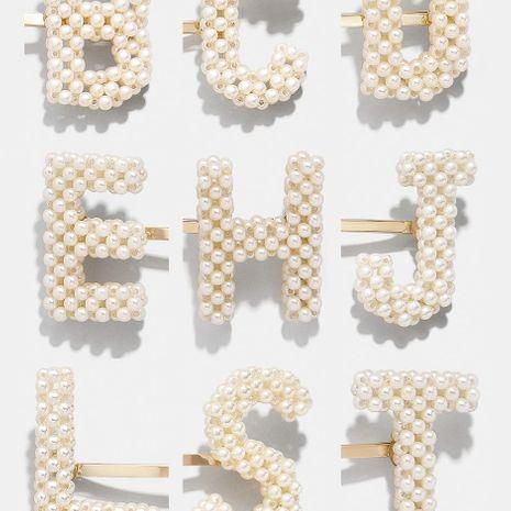 Horquilla de perlas de letras tejidas a mano NHLU155400's discount tags