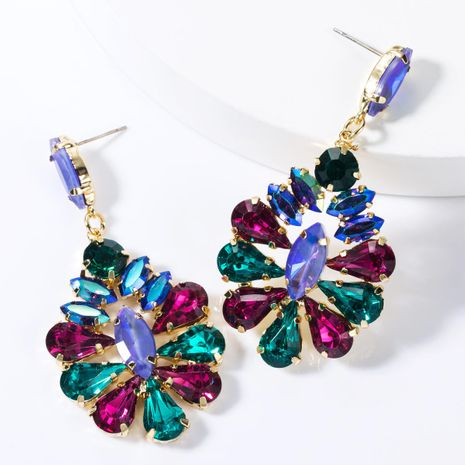 Fashion alloy diamond earrings NHJE155415's discount tags