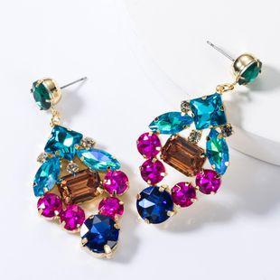 Multi-layer alloy diamond earrings NHJE155417's discount tags