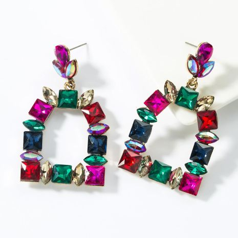 Multilayer alloy colored full diamond earrings NHJE155424's discount tags