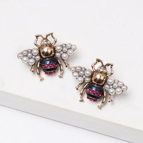 New bee pearl stud earrings NHJJ155432's discount tags