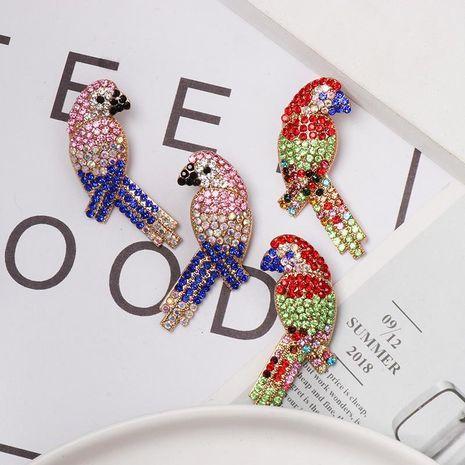 Fashion color rhinestone bird stud earrings NHJJ155434's discount tags