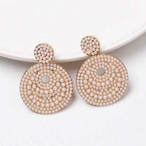 Vintage disc pearl stud earrings NHJJ155459's discount tags