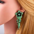 Pentagram tassel handwoven earrings NHAS155411