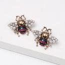 New bee pearl stud earrings NHJJ155432
