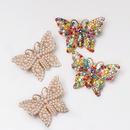 Pearlstudded butterfly stud earrings NHJJ155444
