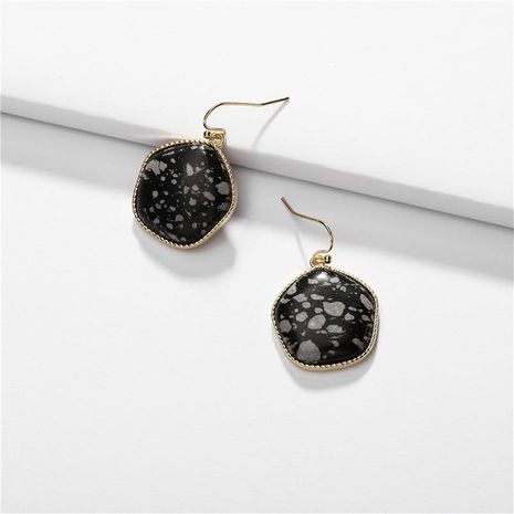 Alloy geometric natural stone earrings NHLU155474's discount tags