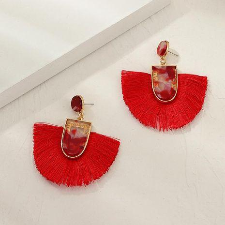 Boucles d'oreilles pompon en forme d'éventail géométrique NHNZ155484's discount tags