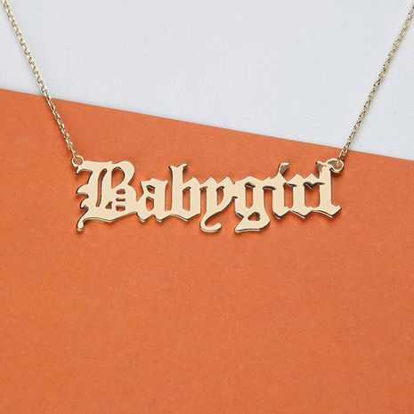 Alloy Babygirl Letter Necklace NHNZ155485's discount tags