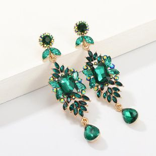 Fashion retro full diamond earrings NHNZ155504's discount tags