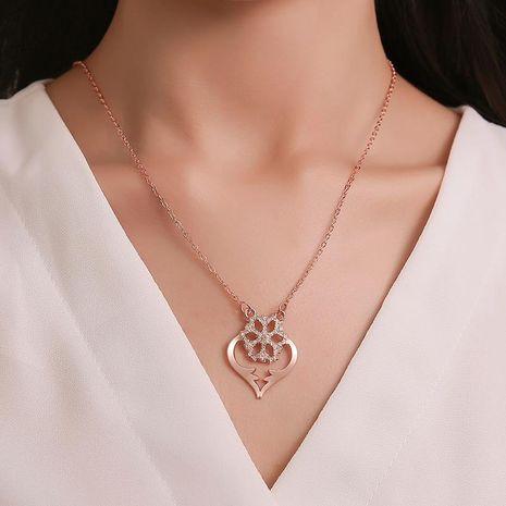 Collier fantaisie diamant en forme de coeur NHDP155506's discount tags