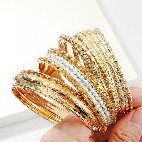 Fashion multi-layer diamond alloy bracelet NHNZ155507's discount tags